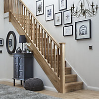Traditional Natural Oak 41mm Handrail, (L)2.4m (W)59mm