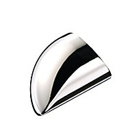 Trademark Round Polished Chrome effect Metal End cap (L)84mm (W)59mm
