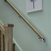 Traditional Natural Oak Rounded Handrail, (L)3.6m (W)54mm