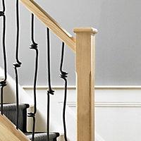 Elements Modern Natural Oak Handrail, (L)4.2m (W)65mm