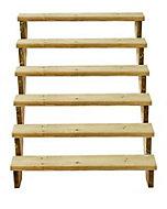 Richard Burbidge Redwood Deck step (W)1066mm (T)40mm, Set of 8
