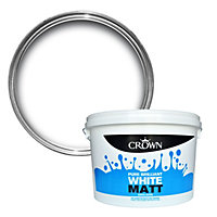 Crown Pure brilliant white Matt Emulsion paint 10L