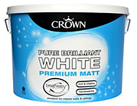 Crown Breatheasy Brilliant white Matt Emulsion paint 10L
