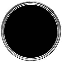 Sandtex Black Satin Metal & wood paint, 0.75