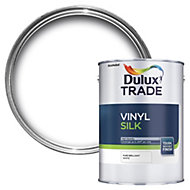 Dulux Trade Pure brilliant white Silk Emulsion paint 2.5L