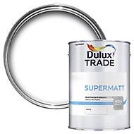 Dulux Trade White Super matt Emulsion paint 5L