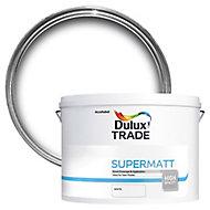 Dulux Trade White Super matt Emulsion paint, 10L