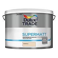 Dulux Trade Magnolia Super matt Emulsion paint, 10L