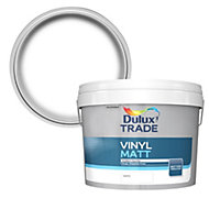 Dulux Trade White Matt Vinyl emulsion paint 10L