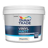 Dulux Trade Magnolia Matt Emulsion paint, 10L