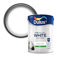 Dulux Pure brilliant white Silk Emulsion paint, 5L