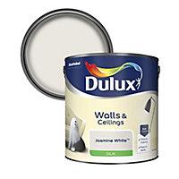 Dulux Natural hints Jasmine white Silk Emulsion paint, 2.5L