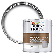 Dulux Trade White Wood Primer & undercoat, 1L