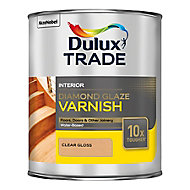Dulux Trade Diamond Clear Gloss Floor Wood varnish, 1L