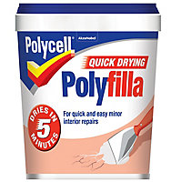 Polycell Quick dry White Ready mixed Filler 1kg