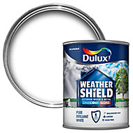 Dulux Trade Pure brilliant white Gloss Metal & wood paint, 0.75L