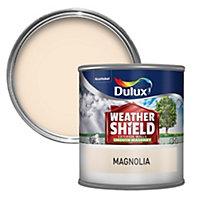 Dulux Weathershield Magnolia Smooth Masonry paint 0.25L Tester pot