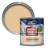 Dulux Weathershield County cream Smooth Masonry paint 0.25L Tester pot
