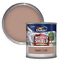 Dulux Weathershield Sandstone beige Smooth Masonry paint 0.25L Tester pot
