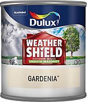 Dulux Weathershield Gardenia Smooth Masonry paint 0.25L Tester pot