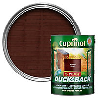 Cuprinol 5 year ducksback Autumn brown Fence & shed Wood treatment, 5L
