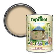 Cuprinol Garden shades Country cream Matt Wood paint, 5L