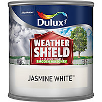 Dulux Weathershield Jasmine white Smooth Masonry paint 0.25L Tester pot
