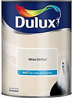 Dulux White chiffon Matt Emulsion paint 5L