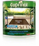 Cuprinol Hampshire oak Matt Slip resistant Decking Wood stain, 2.5L