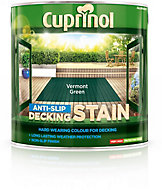 Cuprinol Vermont green Matt Slip resistant Decking Wood stain, 2.5L