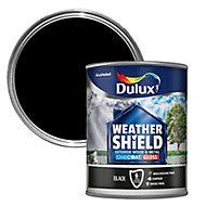 Dulux Weathershield Black Gloss Metal & wood paint 0.75L