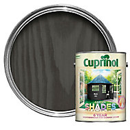Cuprinol Garden shades Black ash Matt Wood paint, 5L