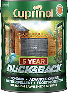 Cuprinol 5 Year Ducksback Silver copse Matt Shed & fence treatment 5L