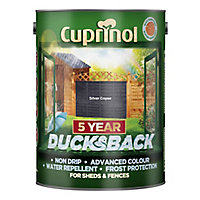 Cuprinol 5 year ducksback Silver copse Matt Fence & shed Wood treatment, 5L
