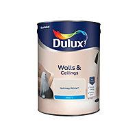 Dulux Nutmeg white Matt Emulsion paint, 5L