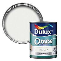 Dulux White cotton Satin Metal & wood paint, 0.75L