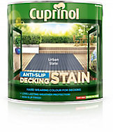 Cuprinol Urban slate Matt Slip resistant Decking Wood stain, 2.5L
