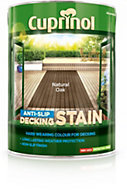 Cuprinol Natural oak Matt Anti Slip Decking stain 5L