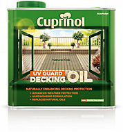 Cuprinol UV guard Natural oak Matt Decking Wood oil, 2.5L