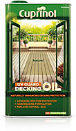 Cuprinol UV guard Natural Matt Decking Wood oil, 5L