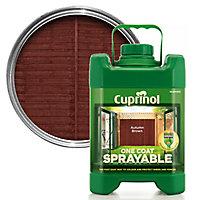Cuprinol One coat sprayable Autumn brown Wood paint, 5L