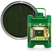 Cuprinol One coat sprayable Forest green Fence & shed Wood treatment, 5L
