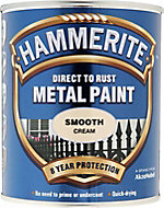 Hammerite Cream Gloss Metal paint, 0.75L