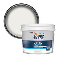 Dulux Trade Pure brilliant white Matt Emulsion paint, 10L