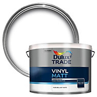 Dulux Trade Pure brilliant white Matt Emulsion paint 10L
