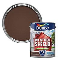 Dulux Weathershield Intense chestnut Smooth Masonry paint 5L