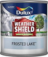 Dulux Weathershield Frosted lake blue Smooth Masonry paint 0.25L Tester pot