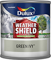 Dulux Weathershield Green ivy Smooth Masonry paint 0.25L Tester pot