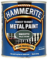 Hammerite Wild thyme Gloss Metal paint, 0.75L