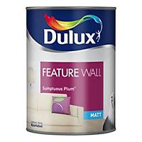 Dulux Feature wall Sumptuous plum Matt Emulsion paint 1.25L